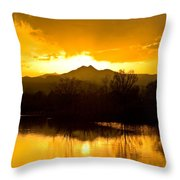 Sunset On Golden Ponds Throw Pillow