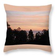 Sunset On Half Moon Bay  Throw Pillow