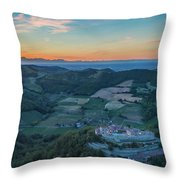 Sunset On Hills Throw Pillow