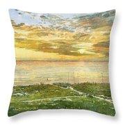Sunset On Hobie Cat Beach, Siesta Key, Access 8 Throw Pillow