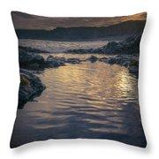 Sunset On Iceland Throw Pillow