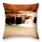 Sunset On King's River Throw Pillow