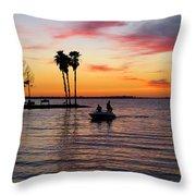 Sunset On Lake Dora At Mount Dora Florida Throw Pillow