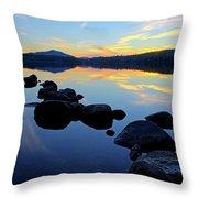 Sunset On Lake Harris 2 Throw Pillow