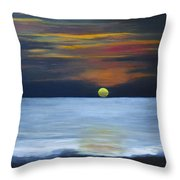 Sunset On Lake Michigan Throw Pillow