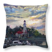 Sunset On Lake Shore Mississauga Throw Pillow