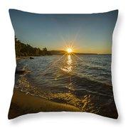 Sunset On Lake Superior Throw Pillow