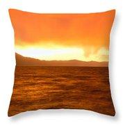 Sunset On Lake Tahoe, California Throw Pillow