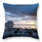 Sunset On Le Morne Throw Pillow