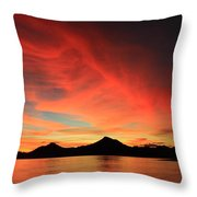 Sunset On Mahoro Throw Pillow