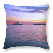 Sunset On Manila Bay Throw Pillow