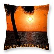 Sunset On Margaritaville Throw Pillow