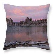 Sunset On Mono Lake Throw Pillow