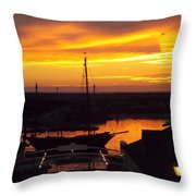 Sunset On Morro Bay Throw Pillow
