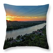 Sunset On Mount Bonnell Throw Pillow