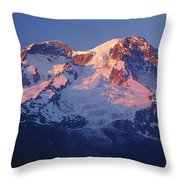 1m4876-sunset On Mt. Rainier  Throw Pillow
