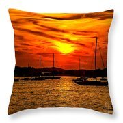 Sunset On Muskegon Lake Throw Pillow