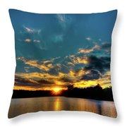 Sunset On Nicks Lake Throw Pillow