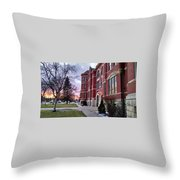 Sunset On Old Main Throw Pillow