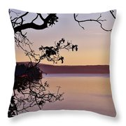 Sunset On Orcas Throw Pillow