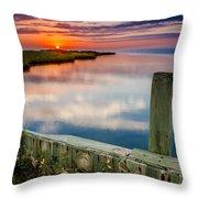 Sunset On Pamlico Sound Throw Pillow