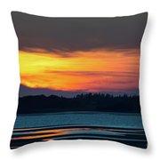 Sunset On Pei Throw Pillow
