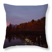 Sunset On Percy Peaks Throw Pillow