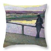 Sunset On Pont Throw Pillow
