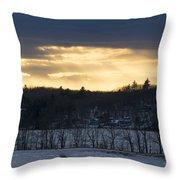 Sunset On Sabattus Lake Throw Pillow