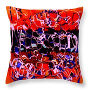 Sunset On Seaweed Beach Throw Pillow