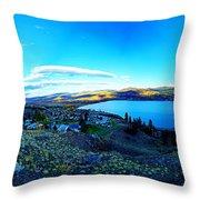 Sunset On Skaha Lake Throw Pillow