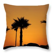 Sunset On Socal Beach Throw Pillow
