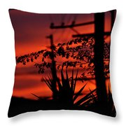 Sunset On Socal Suburb Throw Pillow