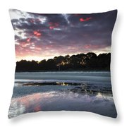 Sunset On South Forest Throw Pillow