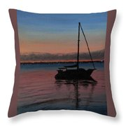 Sunset On St. Andrew Bay Throw Pillow
