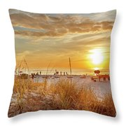 Sunset On St Pete Throw Pillow