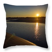 Sunset On St. Simons Island Throw Pillow