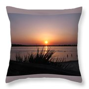 Sunset On The Atlantic  Throw Pillow
