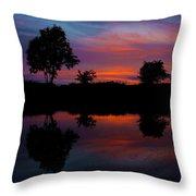 Sunset On The Bladnoch Throw Pillow