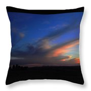 Sunset On The Brim Throw Pillow