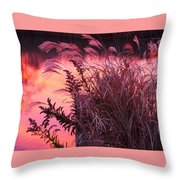 Sunset On The Canal Throw Pillow