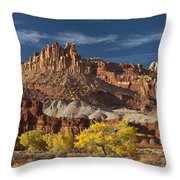 Sunset On The Castle Throw Pillow
