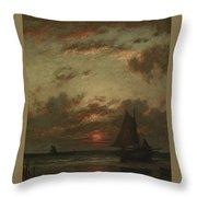 Sunset On The Coast Throw Pillow