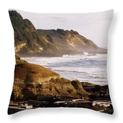Sunset On The Coast Throw Pillow