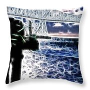 Sunset On The Columbia River Throw Pillow
