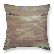 Sunset On The Desert Throw Pillow