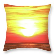 Sunset On The Great Lakes Throw Pillow