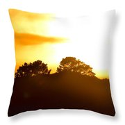 Sunset On The Hill Throw Pillow