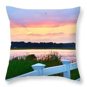 Sunset On The Indian River Throw Pillow