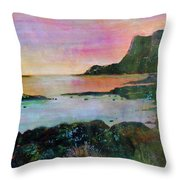 Sunset On The Isle Of Skye Throw Pillow
